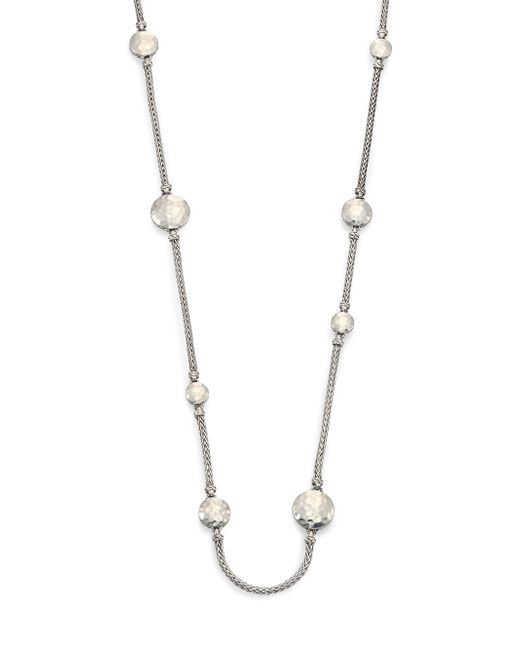 John Hardy | Metallic Palu Sterling Silver Disc Sautoir Necklace/36 | Lyst