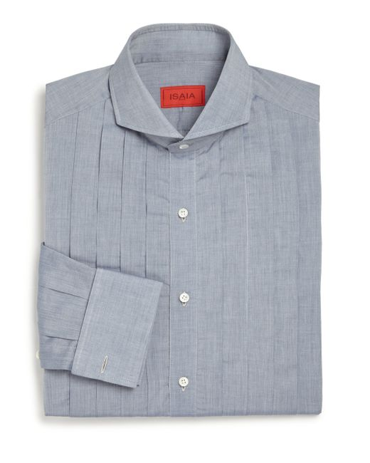 Isaia | Blue Slim-fit Riva Tuxedo Shirt for Men | Lyst