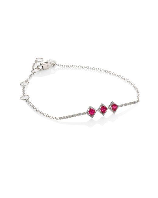 Meira T - Red Diamond & Ruby Bracelet - Lyst