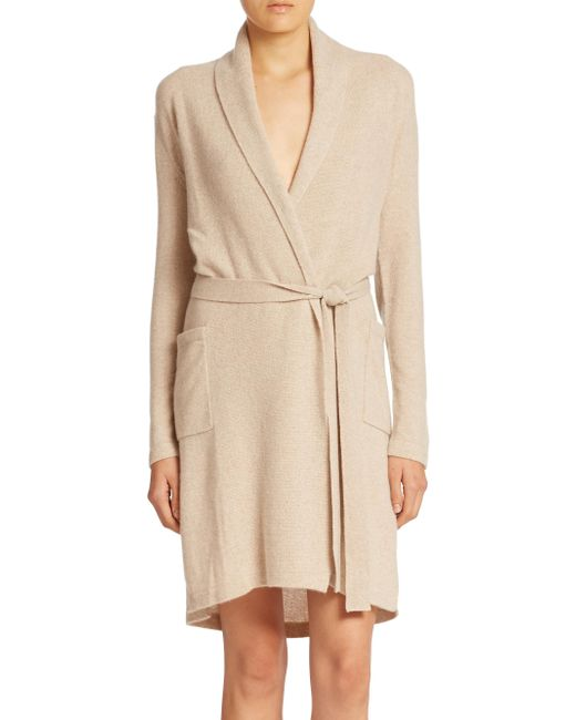 Sofia Cashmere - Natural Cashmere Jersey Robe - Lyst