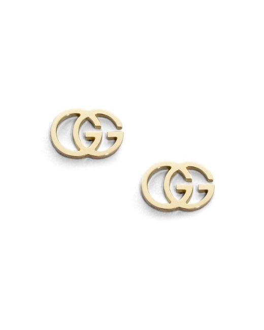 Gucci - Metallic 18k Yellow Gold Double G Earrings - Lyst