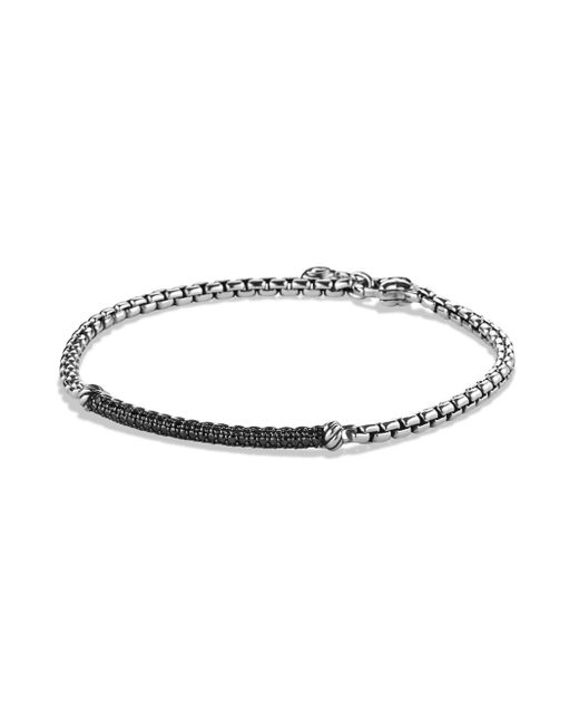 David Yurman - Metallic Petite Pavé Bar Metro Bracelet With Diamonds - Lyst
