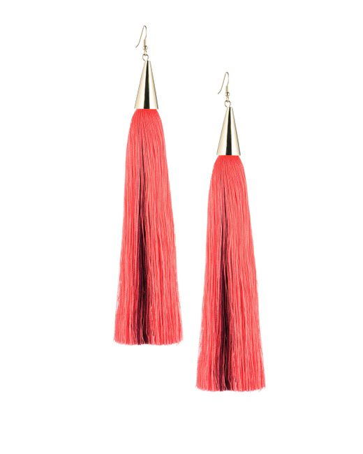 Eddie Borgo | Metallic Long Silk Tassel Earring | Lyst