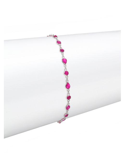 Meira T - Multicolor Ruby & 14k White Gold Bracelet - Lyst