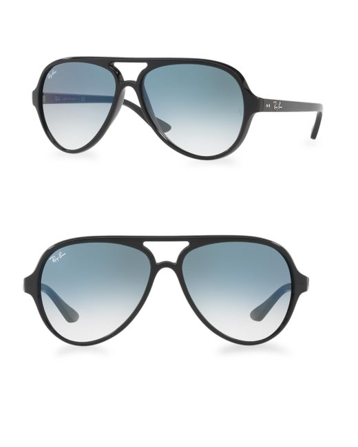 Ray-Ban - Black Iconic Cats 5000 Aviator Sunglasses - Lyst