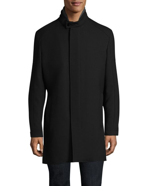 Strellson - Black Zamora Stand-collar Raincoat for Men - Lyst