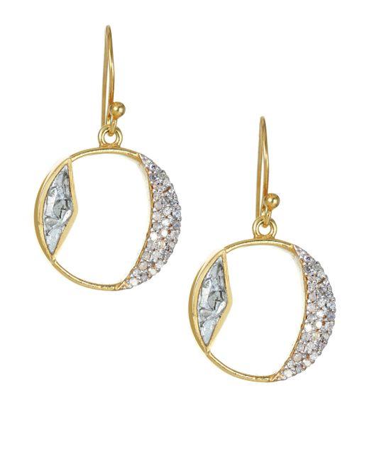 Shana Gulati - Metallic Safar Tonsa Diamond & Goldplated Hoop Drop Earrings - Lyst