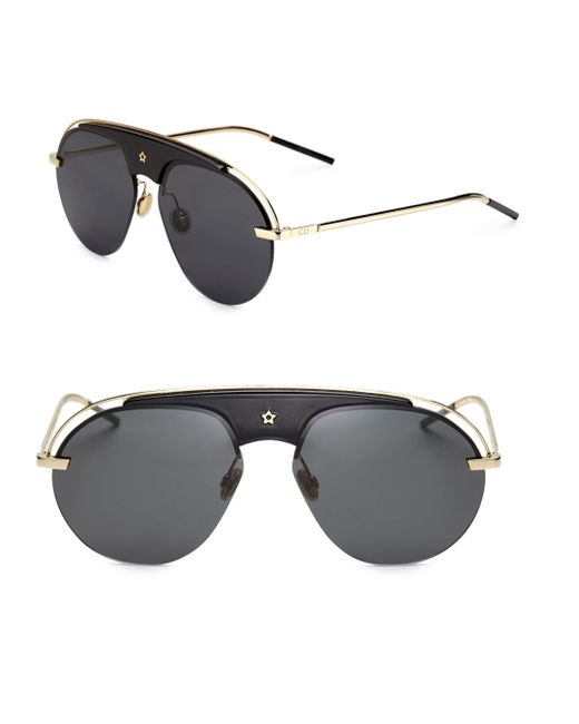Dior - Black Dio(r)evolution 58mm Pilot Sunglasses - Lyst
