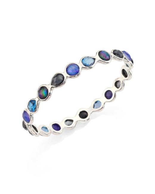 Ippolita | Blue Rock Candy? Eclipse Mixed Stone & Sterling Silver Bangle Bracelet | Lyst