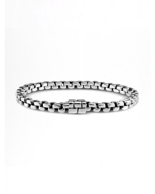 John Hardy | Metallic Square Link Bracelet for Men | Lyst
