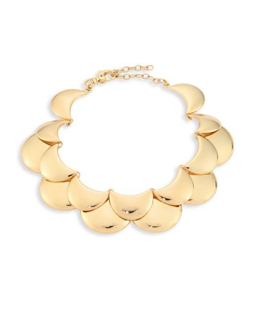 Lele Sadoughi - Metallic Golden Cove Bib Necklace - Lyst