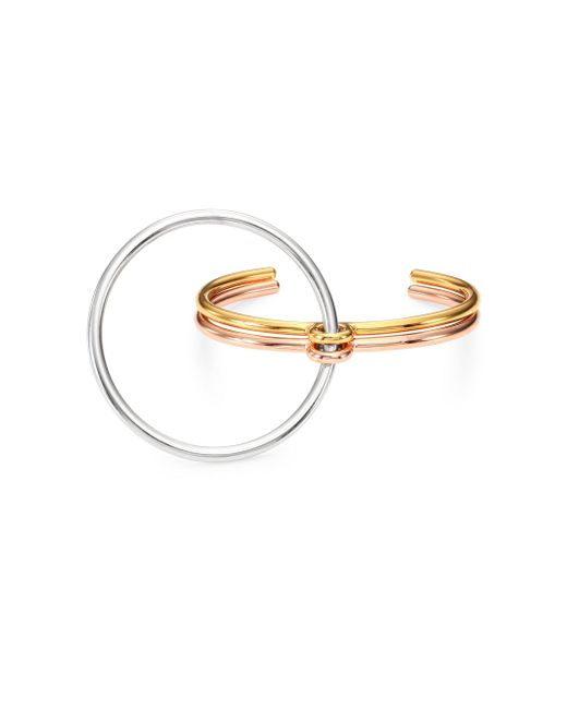 Charlotte Chesnais | Metallic Three Lovers Tri-tone Bracelet | Lyst