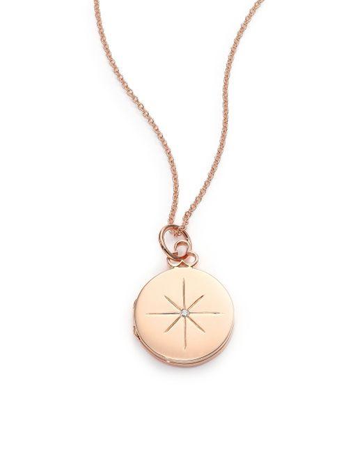 Devon Woodhill - Metallic 18k Polished Rose Gold & Diamond North Star Locket - Lyst