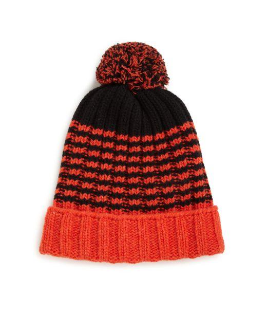 Gucci | Orange Knit Wool Pom-pom Hat for Men | Lyst