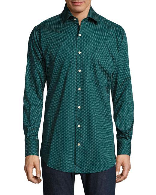 Lyst peter millar golf tee print shirt in green for men for Peter millar golf shirts