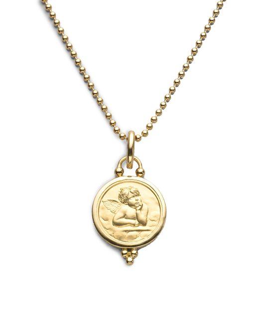 Temple St. Clair - Metallic Angel 18k Yellow Gold Medium Pendant - Lyst