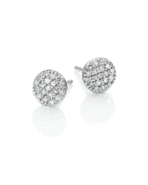 Phillips House - Metallic Affair Micro Infinity Diamond & 14k White Gold Stud Earrings - Lyst