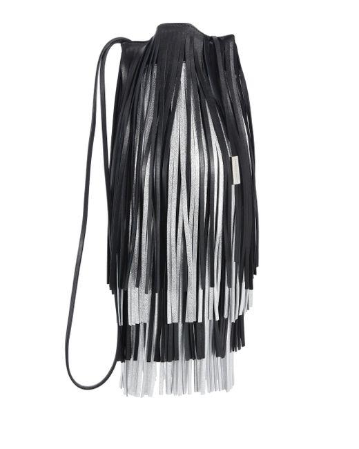 CALVIN KLEIN 205W39NYC - Black Short Fringe Bucket Bag - Lyst