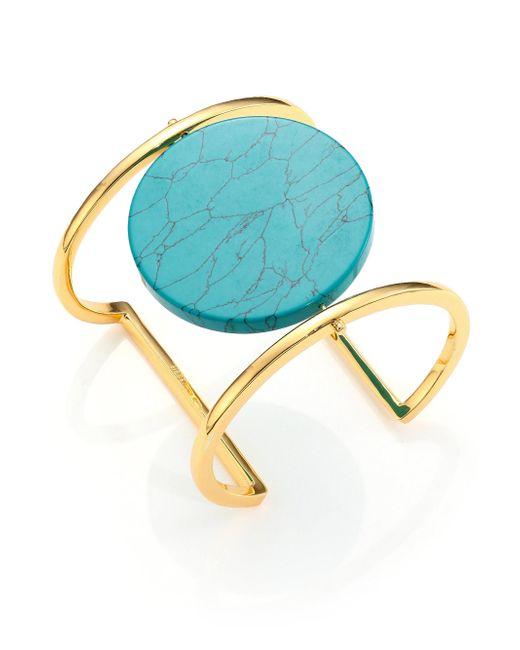Nest | Metallic Disco Turquoise Cuff Bracelet | Lyst