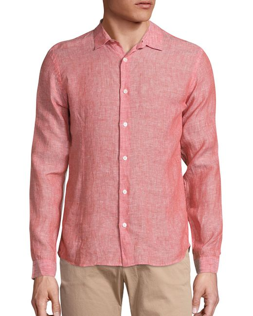 Orlebar Brown - Pink Meden Tailored Shirt for Men - Lyst