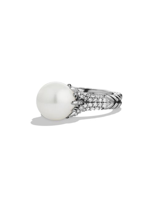 David Yurman - Metallic Starburst Ring With Pearl & Diamonds - Lyst