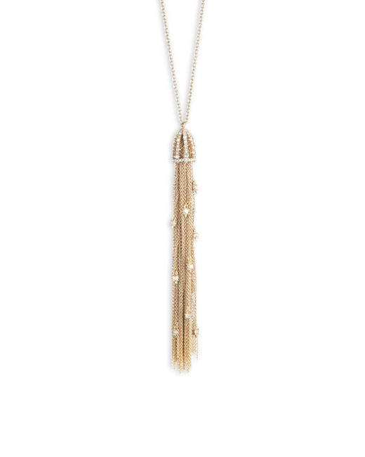 Alexis Bittar - Metallic Cascading Crystal Tassel Pendant - Lyst