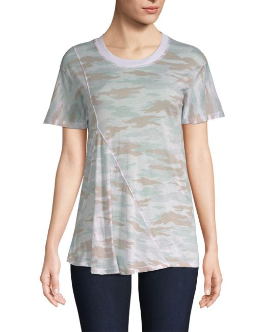 Stateside - White Camo Front Fold Tee - Lyst