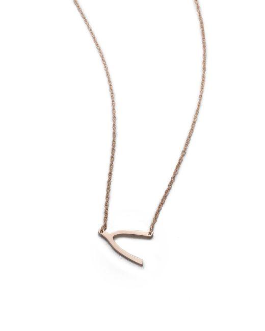 Jennifer Zeuner - Pink Wishbone Pendant Necklace - Lyst