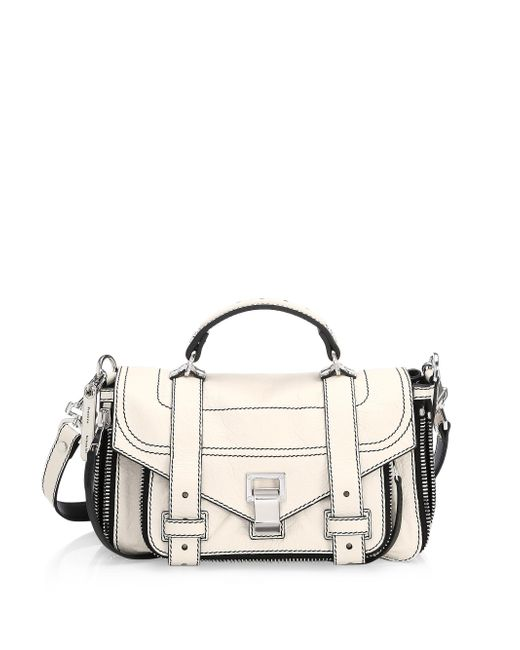 Proenza Schouler - Multicolor Ps1+ Tiny Leather Zip Satchel - Lyst