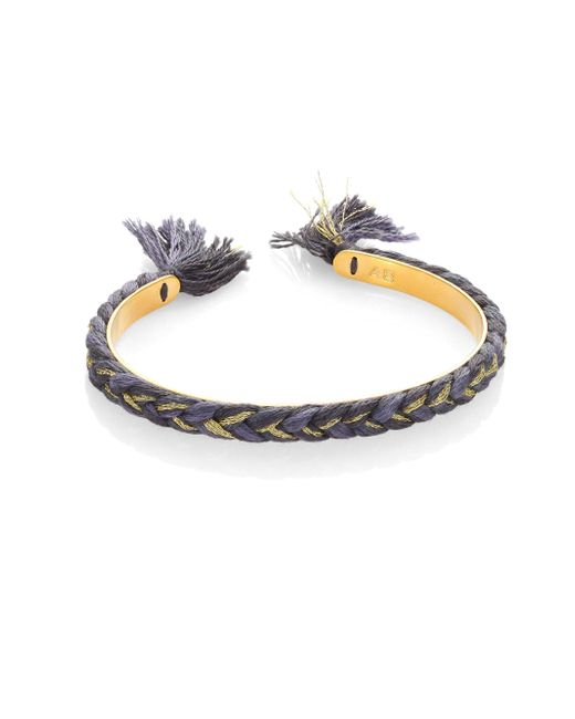 Aurelie Bidermann - Blue Copacabana Single Braided Cuff Bracelet - Lyst