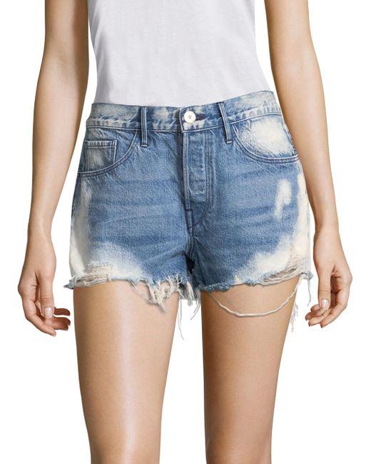3x1 - Blue W2 Mason Bleached Denim Shorts - Lyst