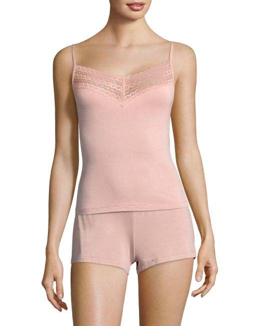 Saks Fifth Avenue - Pink Lori Lace Camisole - Lyst