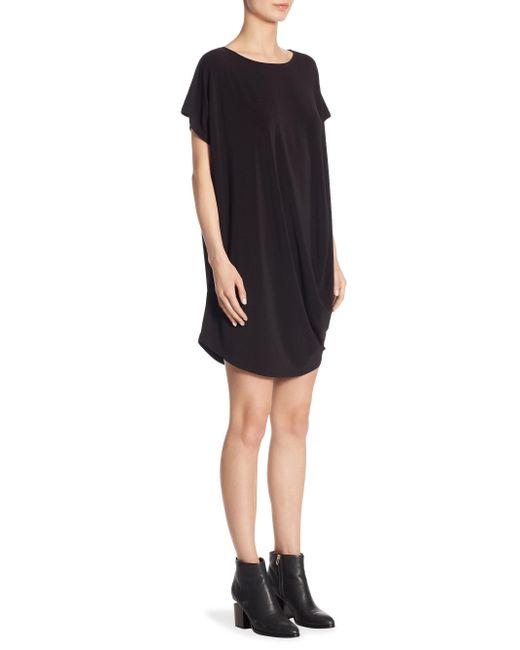Issey Miyake - Black Drape Jersey Shift Dress - Lyst