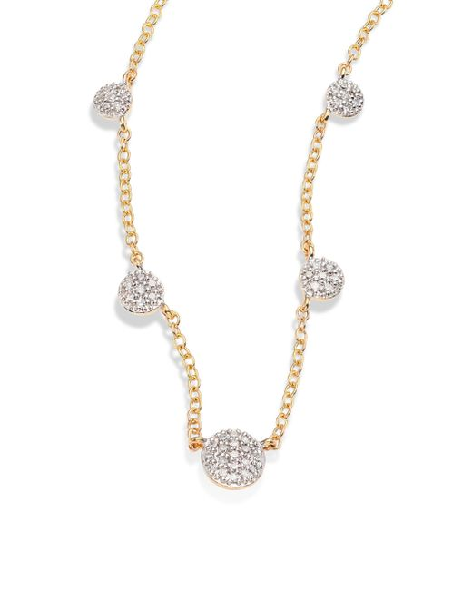 Phillips House - Metallic Affair Diamond Infinity Micro Station Necklace - Lyst