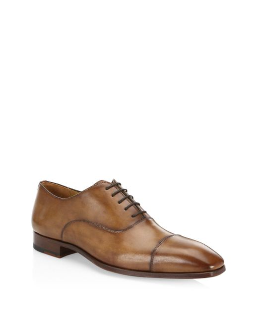 Saks Fifth Avenue - Brown Collection By Magnanni Leather Cap Toe Loafers for Men - Lyst