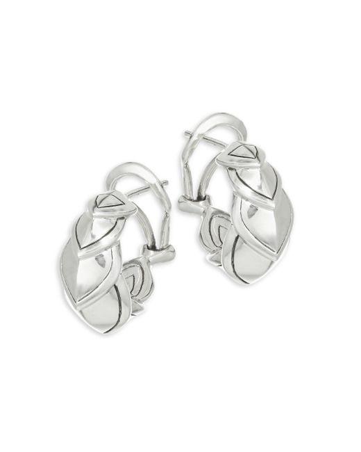 John Hardy - Metallic Legends Naga Silver Buddha Belly Earrings - Lyst