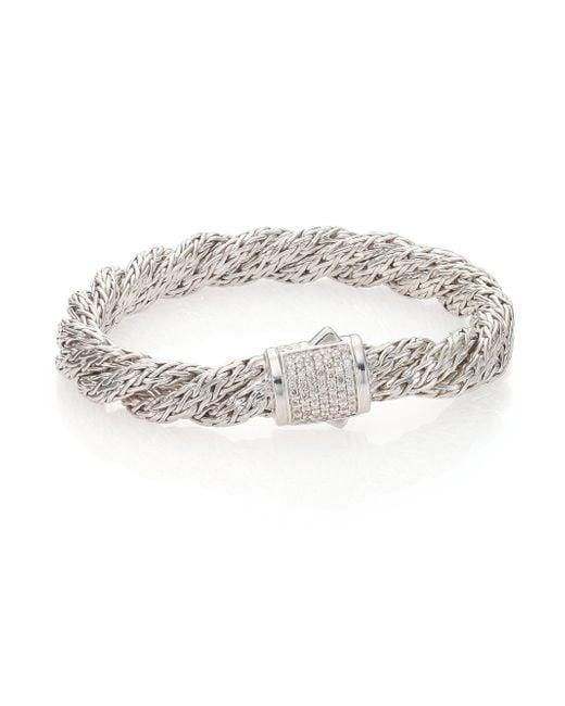 John Hardy   Metallic Classic Chain Diamond & Sterling Silver Medium Twisted Bracelet   Lyst