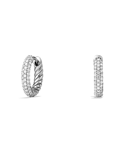 David Yurman - Metallic Petite Pavé Earrings With Diamonds - Lyst
