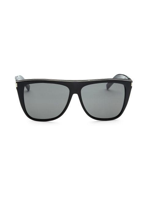 e20ef622991 Saint Laurent - Black Wayfarer Sunglasses for Men - Lyst ...