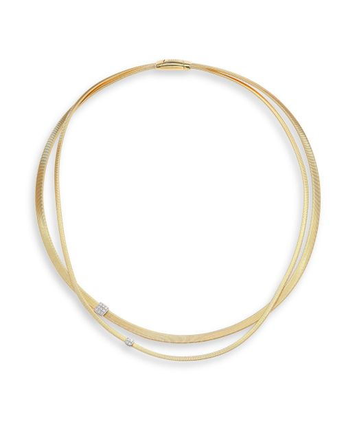 Marco Bicego - Metallic Masai Diamond, 18k Yellow Gold & 18k White Gold Double-strand Necklace - Lyst