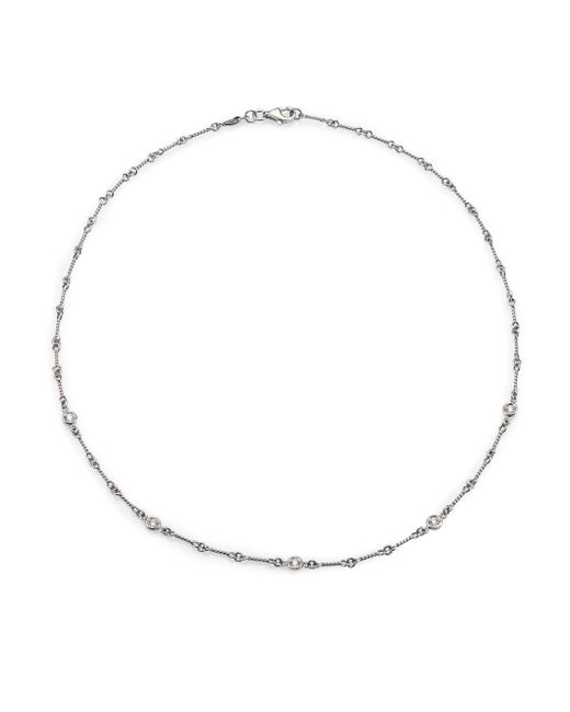 Roberto Coin - Diamond & 18k White Gold Station Necklace - Lyst