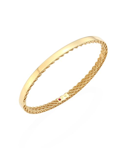 Roberto Coin - Metallic Symphony 18k Yellow Gold Bangle - Lyst