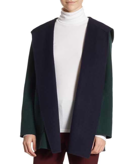 Theory | Blue Clairene Doublefaced Coat | Lyst