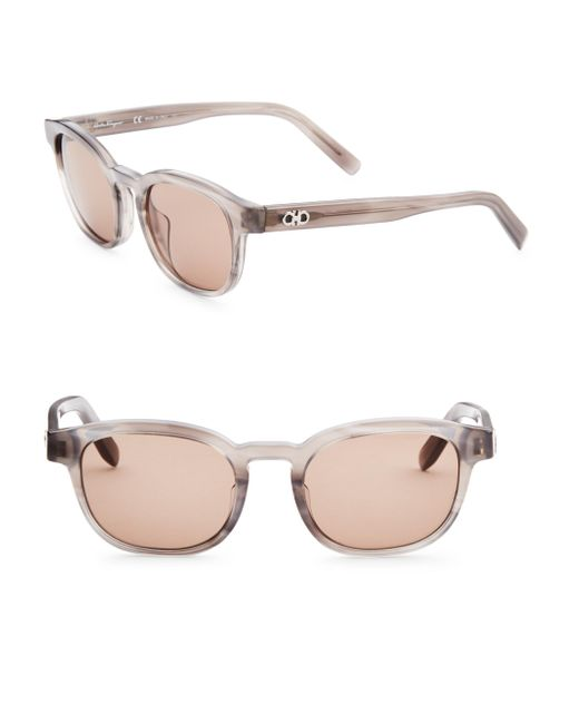 Ferragamo - Gray 50mm Wayfarer Sunglasses for Men - Lyst