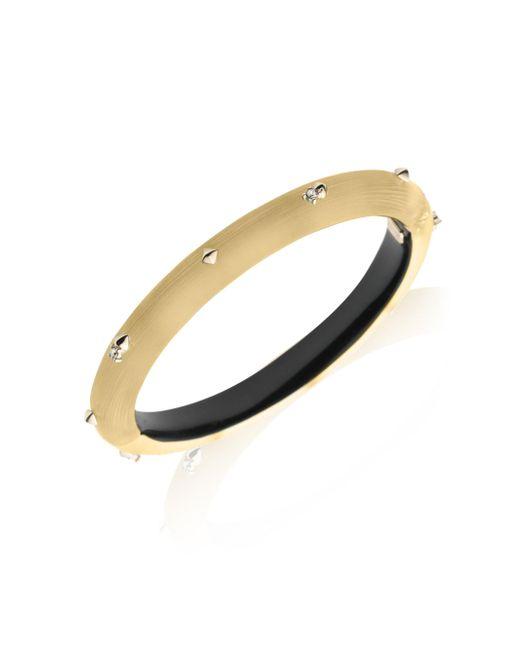 Alexis Bittar - Metallic Gold Stud Lucite Hinge Bangle - Lyst