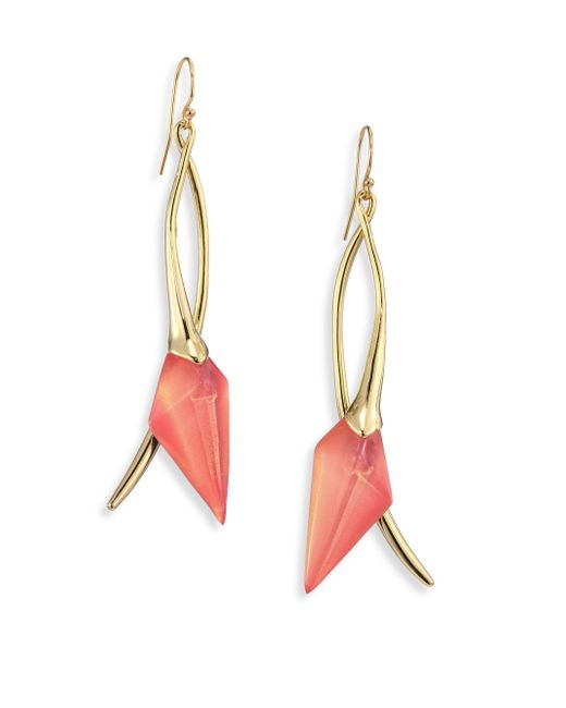 Alexis Bittar | Multicolor Lucite Elongated Wire Earrings | Lyst