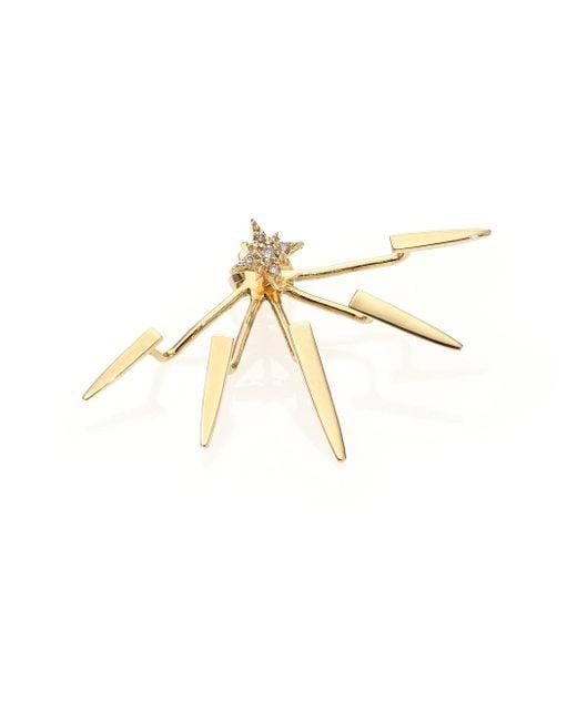 Jacquie Aiche - Metallic 14k Yellow Gold Ice Pick Single Ear Jacket - Lyst