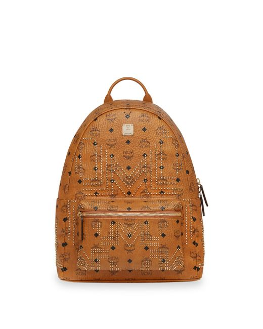 MCM - Brown Medium Stark Gunta Studded Backpack for Men - Lyst