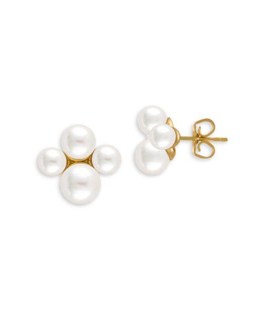 Majorica | 5-7mm White Organic Pearl Stud Earrings | Lyst