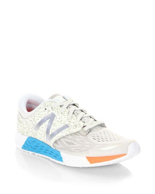 New Balance - White Zante Reflective Mesh Sneakers - Lyst